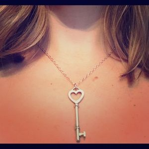 Tiffany & Co. Sterling Silver Key Necklace